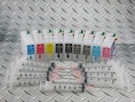 Refillable cartridge set for Epson Pro 3880 - 9 x refillable cartridges - empty, no inks included