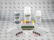 Refillable Cartridge Kit for Epson Photo R1900 with 1 x 4 oz bottle of i2i Absolute Black dye ink for making Screen Separations, 1 x 8 oz bottle of i2i Absolute Clear ink, and 1 x 4 oz bottle of Dead Head cleaning fluid.