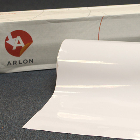 White Arlon Sign Vinyl