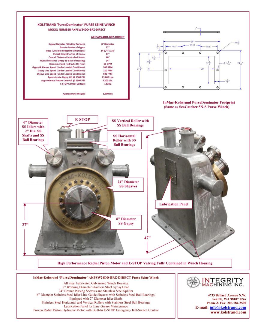 kolstrand purse dominator akpsw24dd brz direct steel galvanized rh kolstrand com 120 Volt Winch Wiring Diagram ATV Winch Solenoid Wiring Diagram