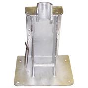 InMac-Kolstrand 'STANDARD' Steel Galvanized Seine Davit Socket Arrangement-for Laydown Style Davit Rollers