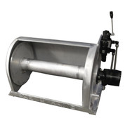 Kolstrand 16 Inch Aluminum Anchor Winch - With 16 In Diameter X 24 In Extra Wide Drum - Model AKPAAW16D24W
