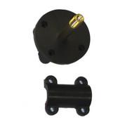 InMac-Kolstrand Nylon Mounting Flange With Brass LH Threaded Axle, S/S Pin and Nylon Cap-Sub Assembly - Piece 13RH