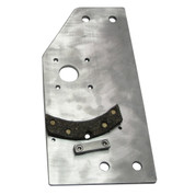 InMac-Kolstrand Gurdy Plate with Brake Pad Mount and Brake Lining Affixed to Plate - LH - Piece 21LH