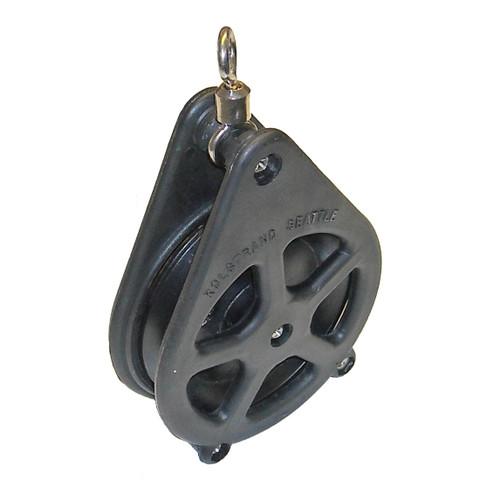 InMac-Kolstrand 4 Inch Nylon Block equipped with V-Sheave and Swivel