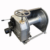 InMac-Kolstrand Steel Galvanized - Single Reduction - 20 Inch Anchor Winch - Model AKPHRW20D20W