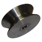 InMac-Kolstrand Stainless Steel 4-1/2 Inch Diameter by 1-3/4 Inch Wide Roller with 3/4 Inch Roller Grease-Pin (for Diamond Screw Level Winds)