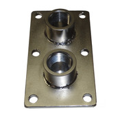 InMac-Kolstrand 3/4 Inch NPT Double Thru-Deck Fitting-Stainless Steel - - * * IN STOCK * *
