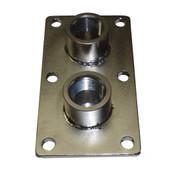 InMac-Kolstrand 3/4 Inch NPT Double Thru-Deck Fitting-Stainless Steel
