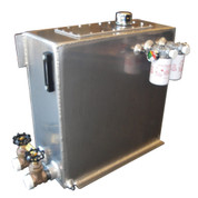 InMac-Kolstrand Aluminum Hydraulic Oil Reservoir-34 Gallon Capacity with Two Seperate Suction Ports and Two Seperate Return Ports with Valves and Filters