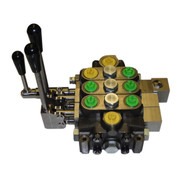 InMac-Kolstrand HydroControl 3-Spool (1 Rotary and 2 Push-Pull Spring Centered) Stack Valve Assembly - D4/3 for 21 GPM Circuits