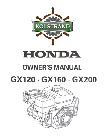 Honda Gx 160 Service Manual Download