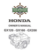 Honda GX120-160-200 Owners Manual - DOWNLOAD
