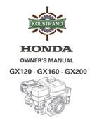 Honda GX120-160-200 Owners Manual - DOWNLOAD