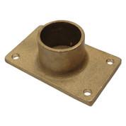 InMac-Kolstrand Heavy-Duty Brass Gurdy Davit Flat Bottom Socket - - * * IN STOCK * *