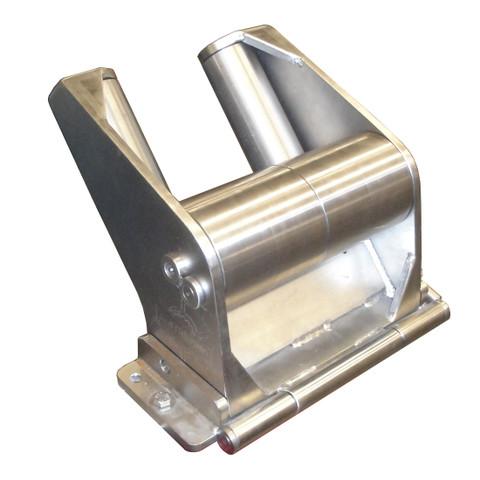 Kolstrand 'CAPTURED-5' RAIL-MOUNT Flip-Style STAINLESS STEEL Seine Davit Roller Assembly