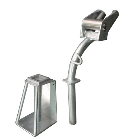 Kolstrand 'CAPTURED-4' Plug-In Style Seine Davit Roller Assembly with Galvanized Davit Socket