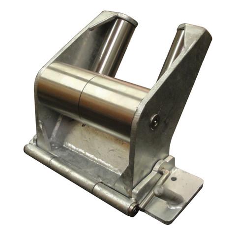 Kolstrand 'CAPTURED-5' RAIL-MOUNT Flip-Style Galvanized Steel Seine Davit Roller with Steel Galvanized Frame