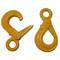 InMac-Kolstrand Stainless Steel Self-Closing Safety Hook - Powder Coated 'Orange'