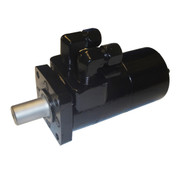InMac-Kolstrand CharLynn 'H' Series Hydraulic Motor - CharLynn 101-1008 Flamesprayed & Painted with JIC 90 Degree Fittings