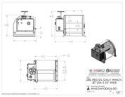 InMac-Kolstrand Steel Galvanized - Double Reduction - 30D X 26W Inch Anchor Winch