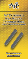 "1/2"" Hex Extension Tapered Nose Hoyt Bow Quiver Extension"
