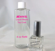 Marvel Liquid Macro Top Coat - SET - 4 oz REFILL & 15 mL Bottle - Nail Polish - US Destinations ONLY