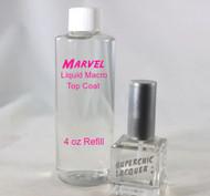 Marvel Liquid Macro Top Coat - SET - 4 oz REFILL & 15 mL Bottle - Nail Polish - US Destinations ONLY