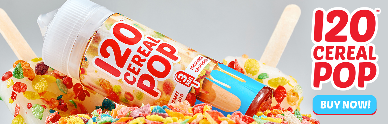 120 Cereal Pop by Mad Hatter  eJuice - Now Available!