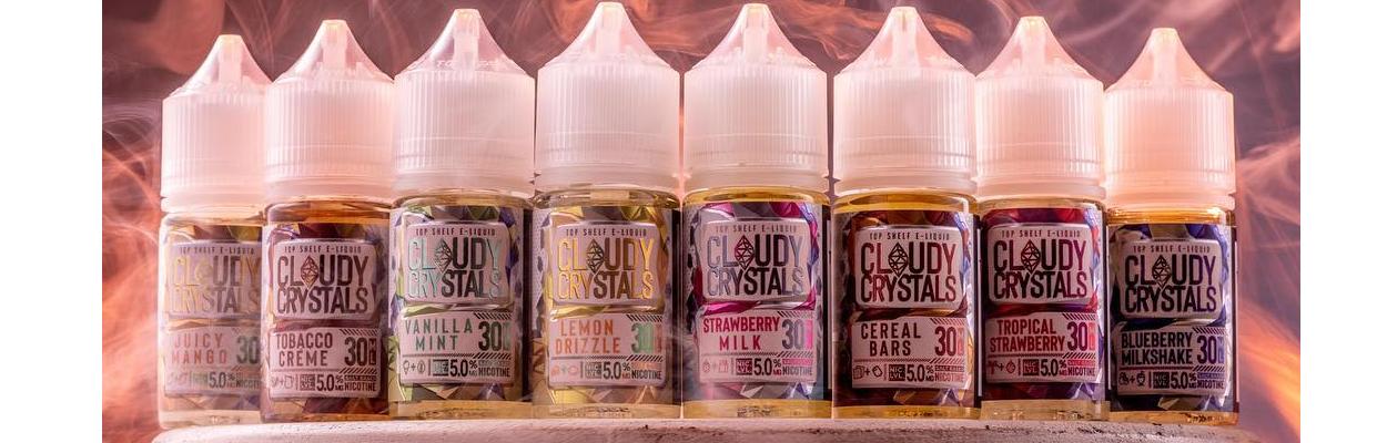 Cloudy Crystals Top Shelf Salt Nic E-Liquid NOW AVAILABLE!