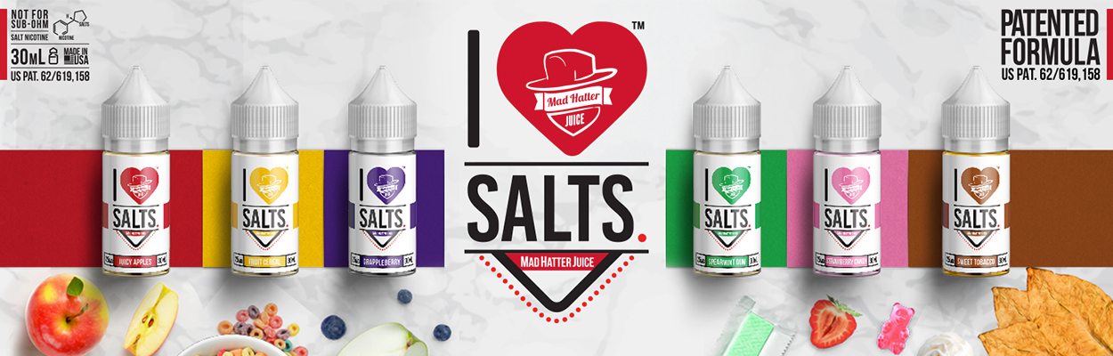 I Love Salts E-Liquid by Mad Hatter  eJuice - Now Available!