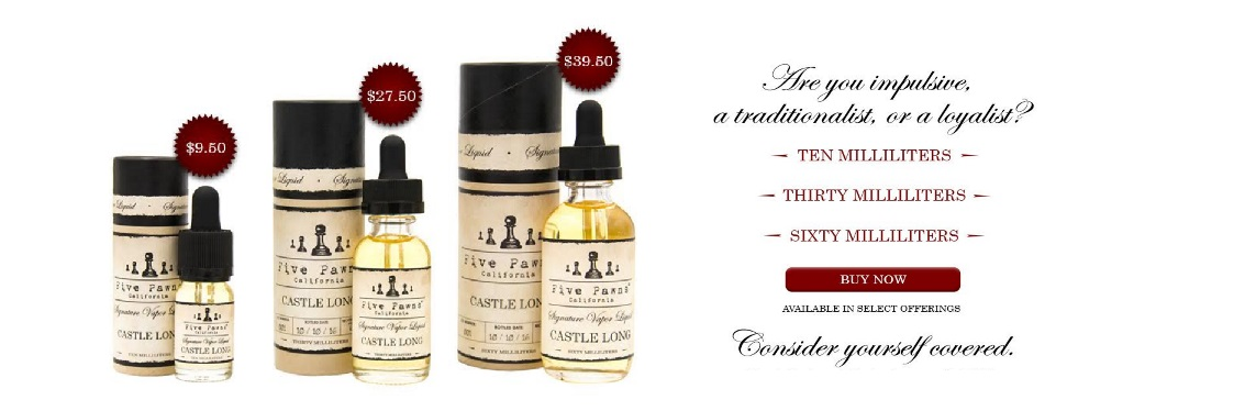 Five Pawns  e-Liquids - Now Available!