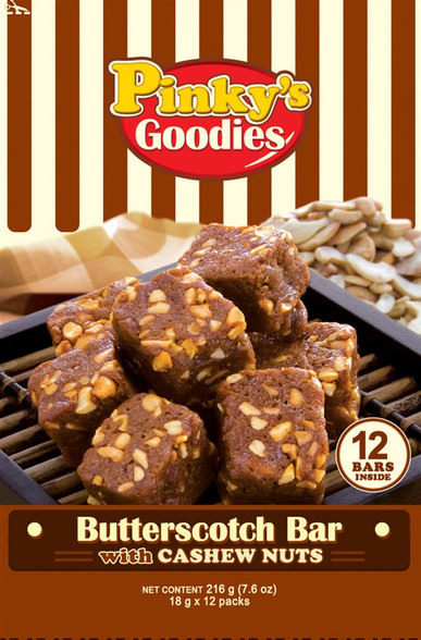 Pinky's Goodies Butterscotch Bar With Cashew Nuts