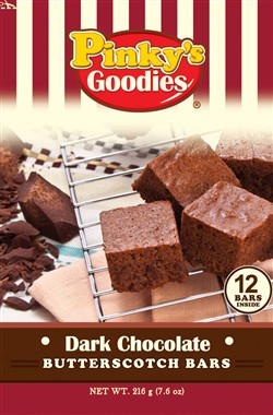 Pinky's Goodies Dark Chocolate Butterscotch Bars