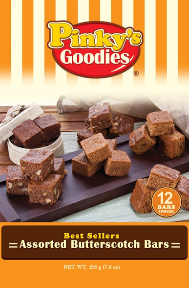 Pinky's Goodies Assorted Butterscotch Bars wrapper