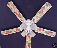 New FIRE TRUCKS TRUCK Ceiling Fan 52""