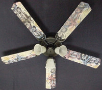 New VINTAGE NOSTALGIC MOTORCYCLES Ceiling Fan 52""