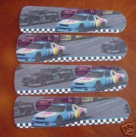 New NASCAR RACE CAR CARS Ceiling Fan 52""