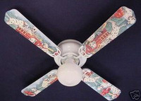New FIRE TRUCKS DALMATION DOGS PUPPIES Ceiling Fan 42""