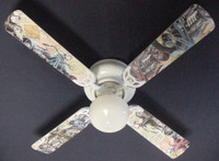 New VINTAGE NOSTALGIC MOTORCYCLES Ceiling Fan 42""