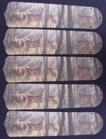 "New DEER BUCK DOE HUNTING 52"" Ceiling Fan BLADES ONLY"