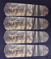 "Deer Buck Doe Hunting Ceiling Fan Blades 42"""