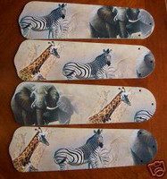 """New AFRICAN SAFARI ELEPHANT 42"""" Ceiling Fan BLADES ONLY"""
