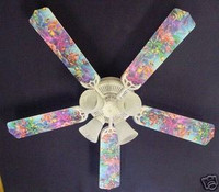 New OCEAN TROPICAL REEF FISH Ceiling Fan 52""