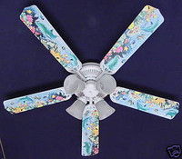 New DOLPHINS FISH OCEAN REEF Ceiling Fan 52""