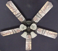 New DEER BUCK DOE HUNTING Ceiling Fan 52""