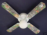 New LION TIGER PARROT GIRAFFE JUNGLE Ceiling Fan 42""