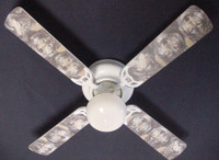 New GREY TIMBER WOLF WOLVES  Ceiling Fan 42""