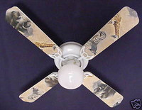 New AFRICAN SAFARI ELEPHANT ZEBRA Ceiling Fan 42""