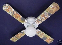 New AFRICAN LION TIGER LEOPARD Ceiling Fan 42""